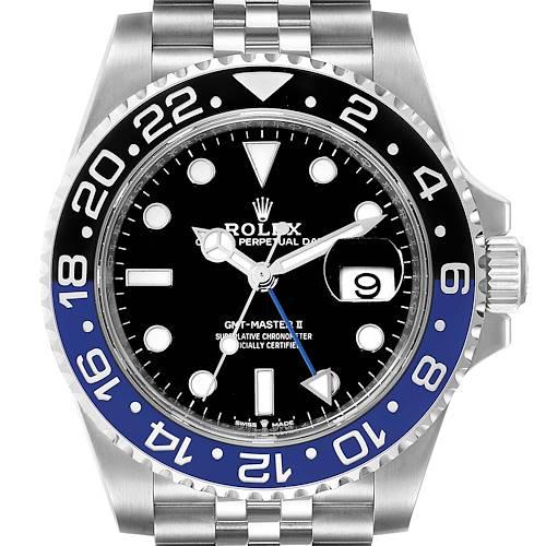 Photo of Rolex GMT Master II Black Blue Batman Jubilee Mens Watch 126710 Box Card