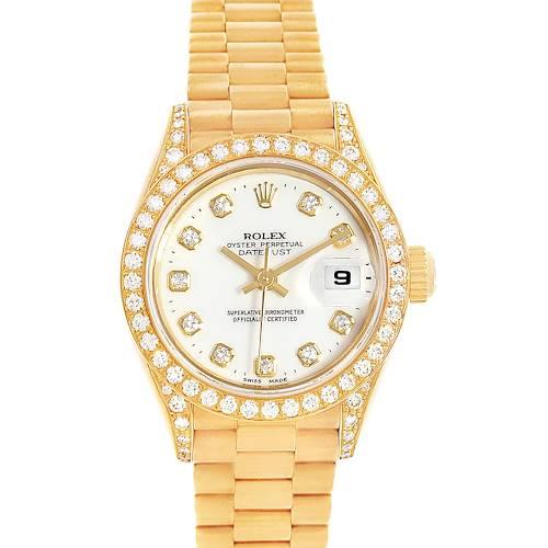 Photo of Rolex President Datejust 18K Yellow Gold Diamond Watch 79188