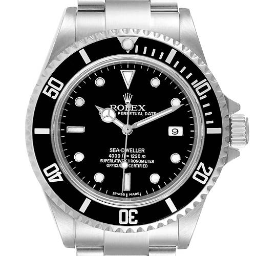 Photo of Rolex Seadweller Black Dial Steel Mens Watch 16600 Box Papers
