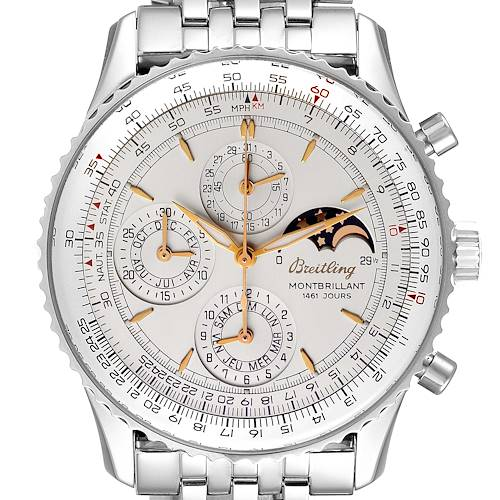 Photo of Breitling Navitimer Montbrillant 1461 Jours Mens Moonphase Watch A19030