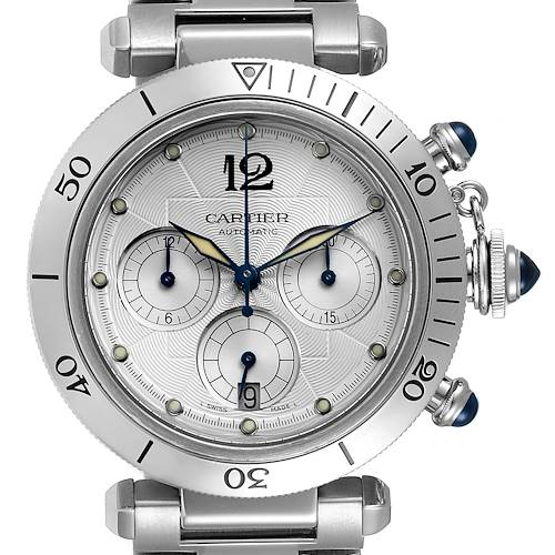Photo of Cartier Pasha Chronograph Steel Mens Watch W31030H3