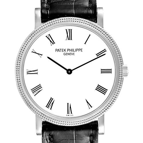Photo of Patek Philippe Calatrava White Gold Automatic Mens Watch 5120 Papers