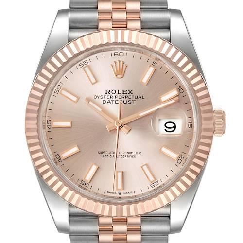 Photo of Rolex Datejust 41 Steel Everose Gold Sundust Dial Watch 126331 Unworn