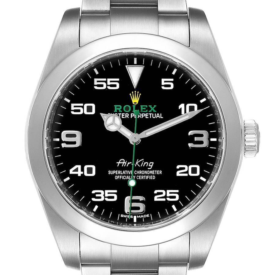 Rolex Oyster Perpetual Air King Black Dial Steel Mens Watch 116900 Unworn SwissWatchExpo