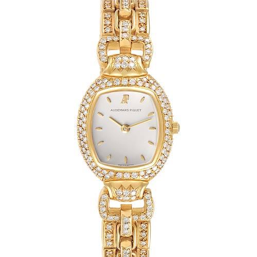 Photo of Audemars Piguet Audemarine Yellow Gold Diamond Ladies Watch 66474