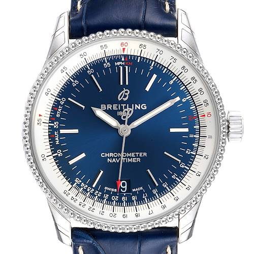 Photo of Breitling Navitimer 1 38mm Blue Dial Strap Mens Watch A17325 Unworn