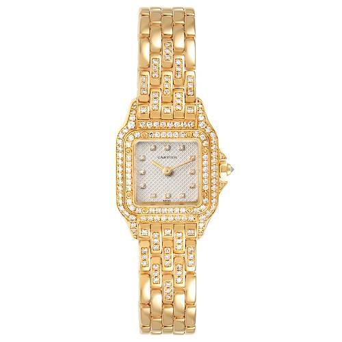 Photo of Cartier Panthere 18k Yellow Gold Diamonds Ladies Watch 1280