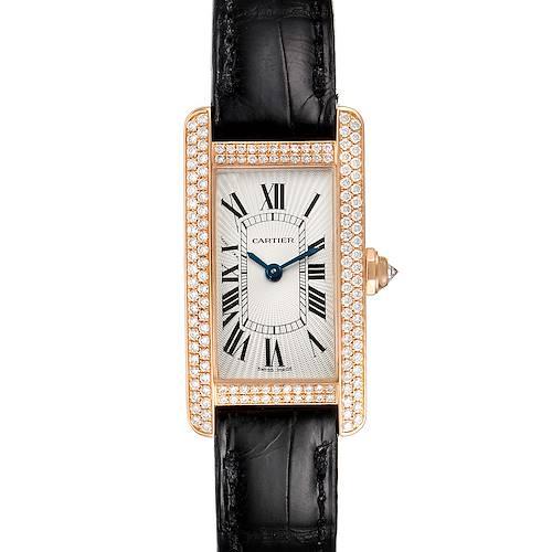 Photo of Cartier Tank Americaine Small Rose Gold Diamond Ladies Watch 2503