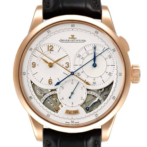 Photo of Jaeger Lecoultre Duometre Silver Dial Rose Gold Mens Watch Q6012521