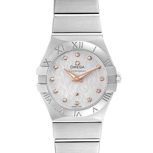 Photo of Omega Constellation 27mm Diamond Steel Ladies Watch 123.10.27.60.52.001 Card