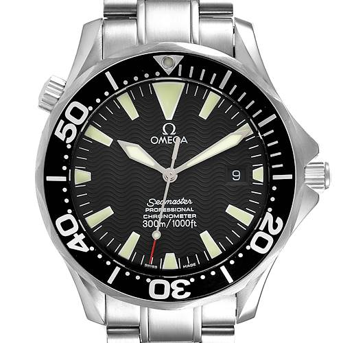 Photo of Omega Seamaster 41 300M Black Dial Steel Mens Watch 2254.50.00 Box Card