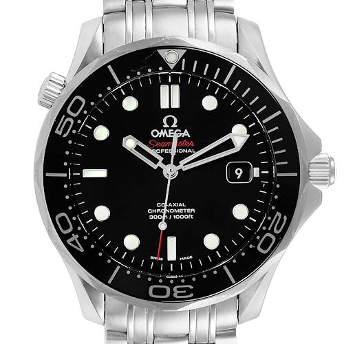 Photo of Omega Seamaster Co-Axial Black Dial Steel Mens Watch 212.30.41.20.01.003
