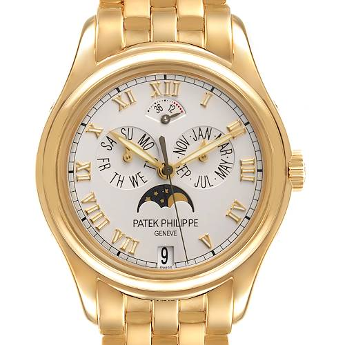 Photo of Patek Philippe Annual Calendar Moonphase Yellow Gold Mens Watch 5036