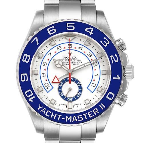 Photo of Rolex Yachtmaster II 44 Blue Cerachrom Bezel Mens Watch 116680 Unworn