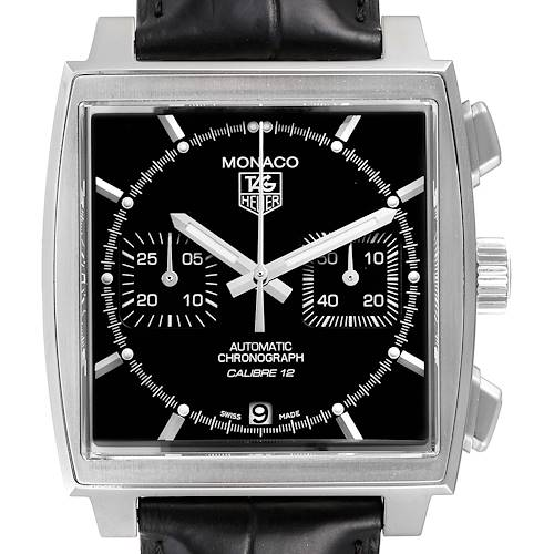 Photo of Tag Heuer Monaco Black Dial Automatic Steel Mens Watch CAW2110