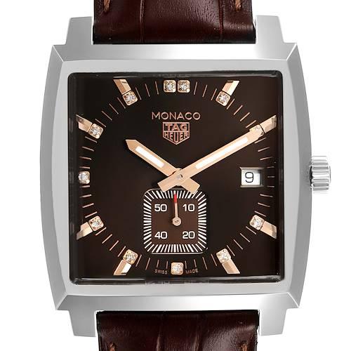 Photo of Tag Heuer Monaco Bronze Diamond Dial Steel Unisex Watch WAW131E Unworn
