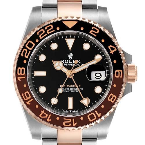 Photo of Rolex GMT Master II Steel Everose Gold Mens Watch 126711 Box Card
