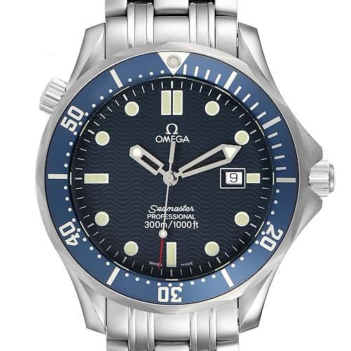 Photo of Omega Seamaster 41mm James Bond Blue Dial Steel Watch 2541.80.00 Unworn