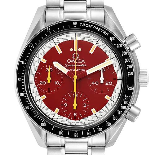 Photo of Omega Speedmaster Schumacher Red Dial Mens Watch 3510.61.00