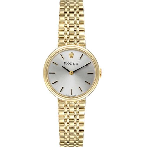 Photo of Rolex 14k Yellow Gold Silver Dial Vintage Cocktail Ladies Watch
