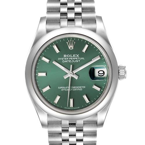 Photo of Rolex Datejust Midsize Mint Green Dial Steel Ladies Watch 278240 Unworn