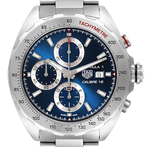 Photo of Tag Heuer Formula 1 Chronograph Blue Dial Steel Watch CAZ2015 Box Papers