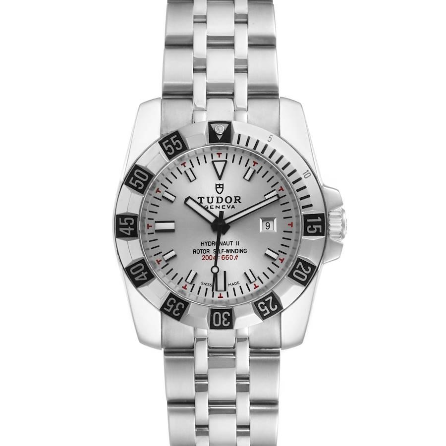 Tudor Hydronaut II Stainless Steel Silver Dial Ladies Watch 24030 Unworn SwissWatchExpo