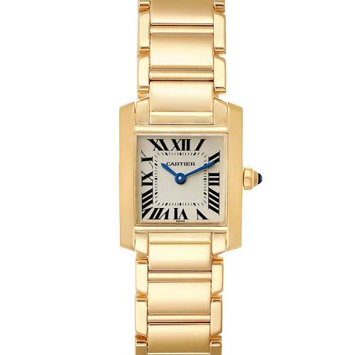 Photo of Cartier Tank Francaise Yellow Gold Quartz Ladies Watch W50002N2 Box Papers