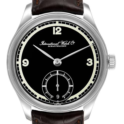 Photo of IWC Portuguese Black Dial Manual Wind Steel Mens Watch IW510205