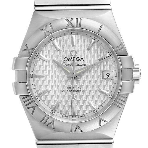 Photo of Omega Constellation Co-Axial Steel Mens Watch 123.10.35.20.02.002 Box Card