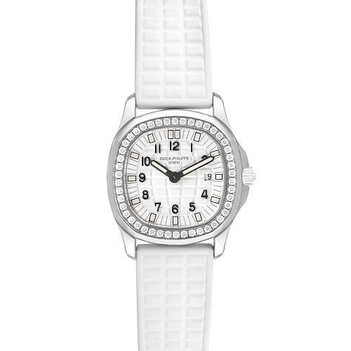 Photo of Patek Philippe Aquanaut White Dial Diamond Ladies Watch 4961 Unworn