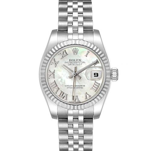 Photo of Rolex Datejust Steel White Gold Mother of Pearl Ladies Watch 179174