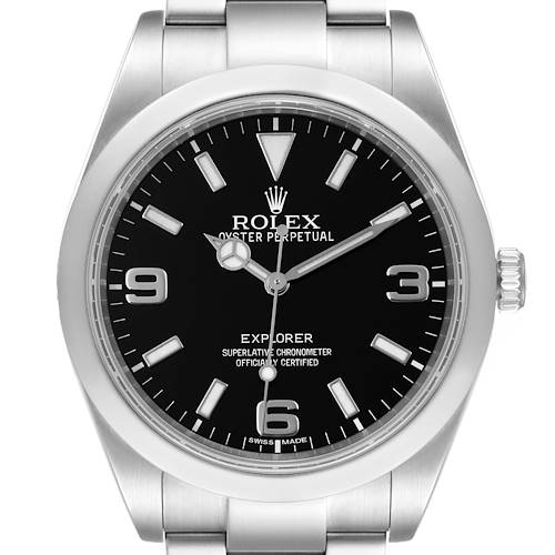 Photo of Rolex Explorer I 39mm Automatic Black Dial Steel Mens Watch 214270