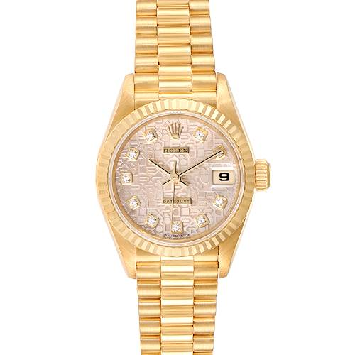Photo of Rolex President Datejust Yellow Gold Diamond Dial Ladies Watch 79178 Papers