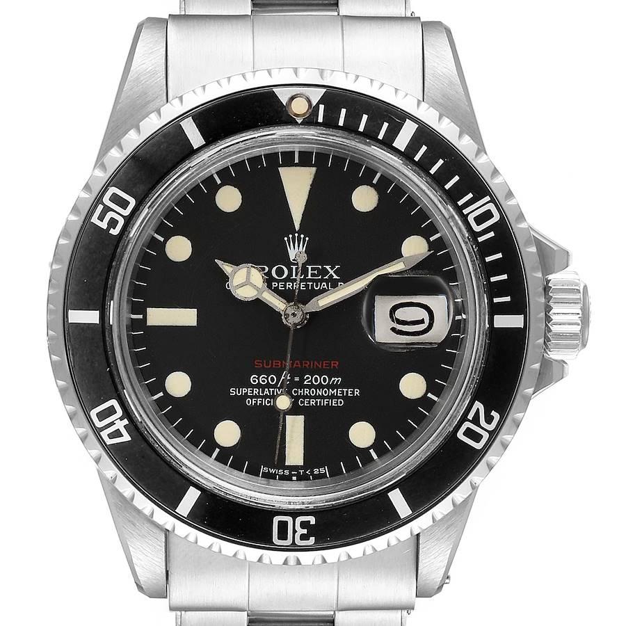Rolex Submariner Vintage Black Mark V Dial Steel Mens Watch 1680 SwissWatchExpo