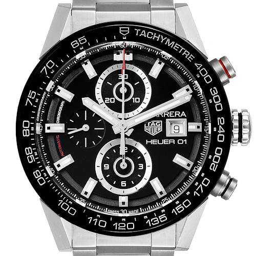 Photo of Tag Heuer Carrera Chronograph Automatic Mens Watch CAR201Z Box Papers