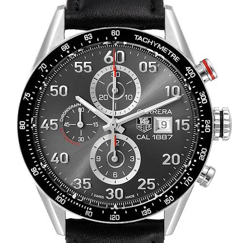 Photo of Tag Heuer Carrera Grey Dial Chronograph Mens Watch CAR2A11 Card