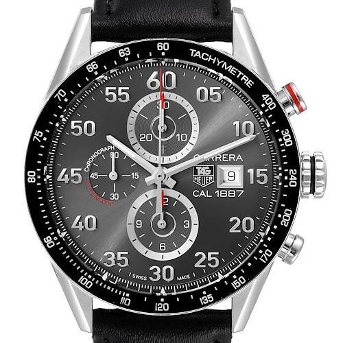 Photo of Tag Heuer Carrera Grey Dial Chronograph Mens Watch CAR2A11 Card