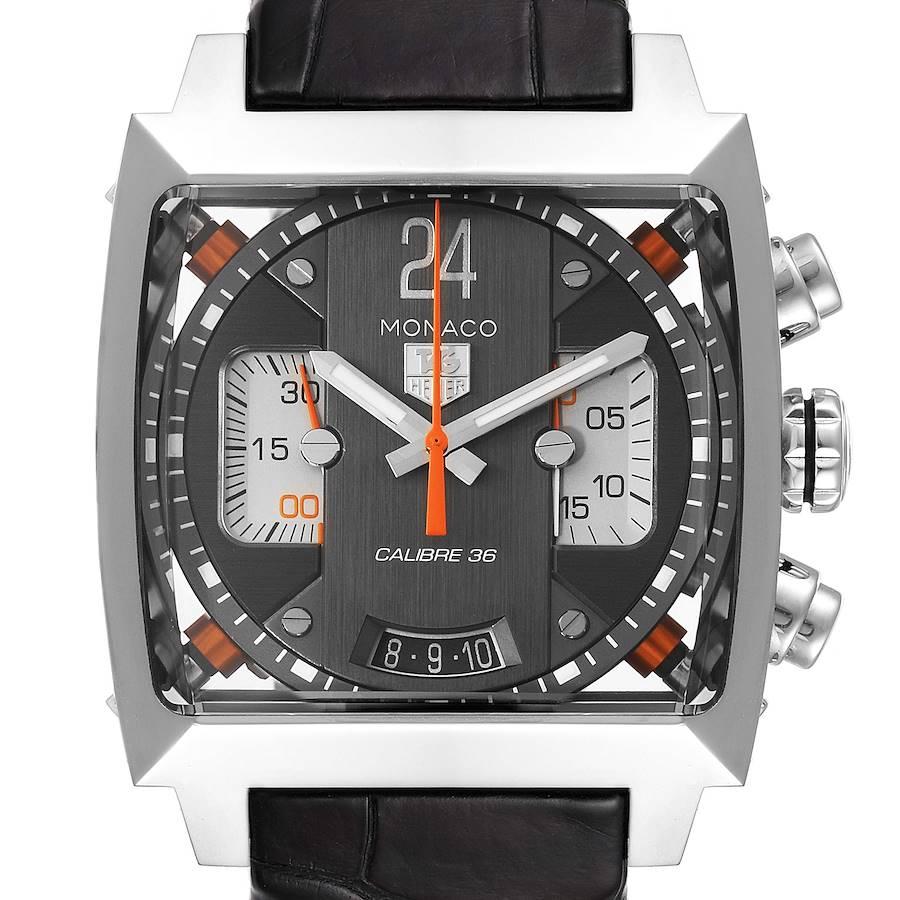 Tag Heuer Monaco Twenty Four Chronograph Mens Watch CAL5112 Box Papers SwissWatchExpo
