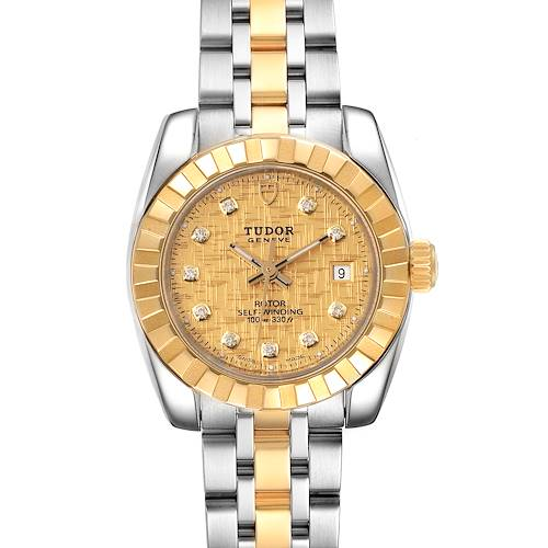 Photo of Tudor Classic Date Steel Yellow Gold Diamond Ladies Watch 22013