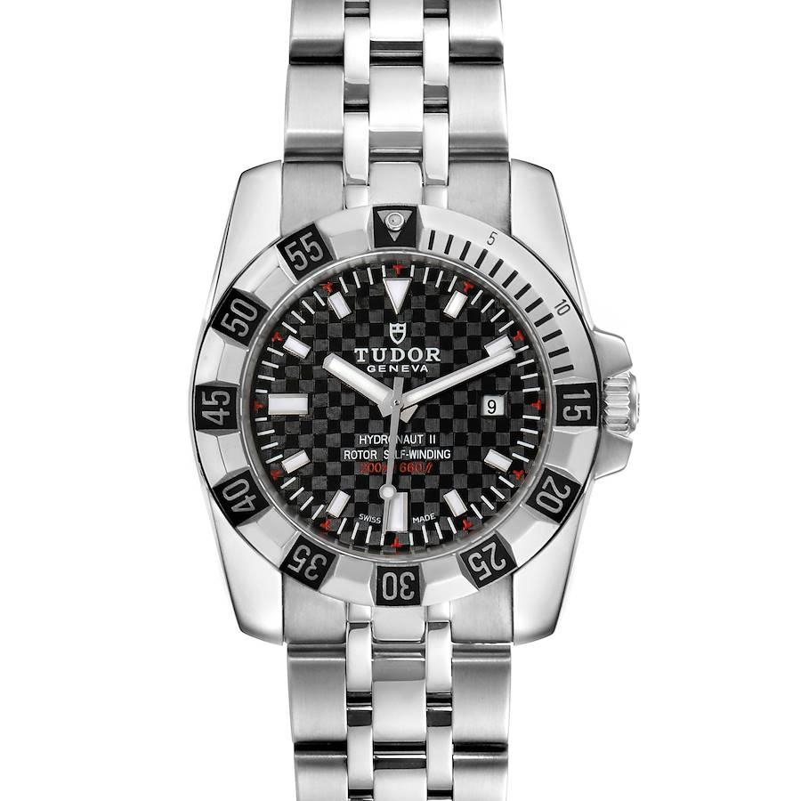 Tudor Hydronaut II Stainless Steel Black Dial Ladies Watch 24030 Unworn SwissWatchExpo