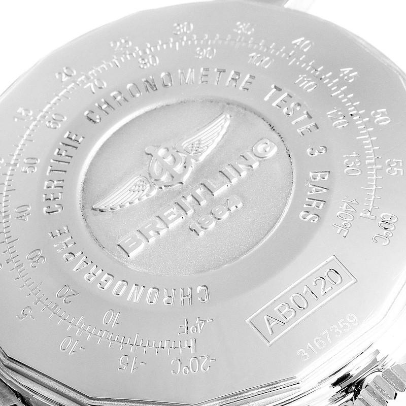 Breitling Navitimer 01 Black Dial Steel Mens Watch AB0120 SwissWatchExpo