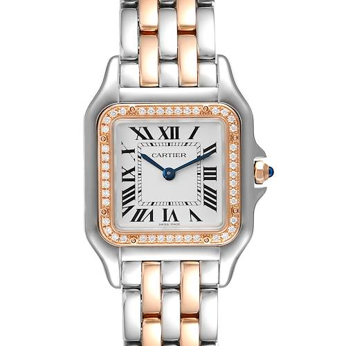 Photo of Cartier Panthere Ladies Steel Rose Gold Diamond Ladies Watch W3PN0007