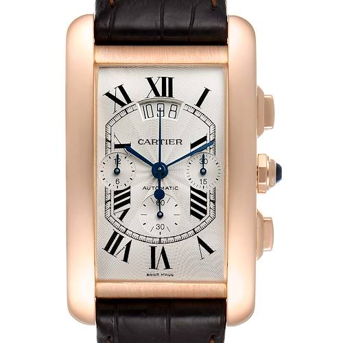 Photo of Cartier Tank Americaine XL Chronograph 18K Rose Gold Watch W2610751