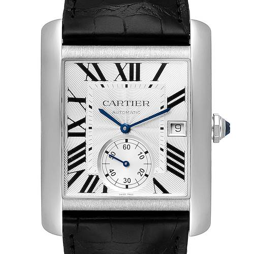 Photo of Cartier Tank MC Silver Dial Steel Mens Watch W5330003 Box Card