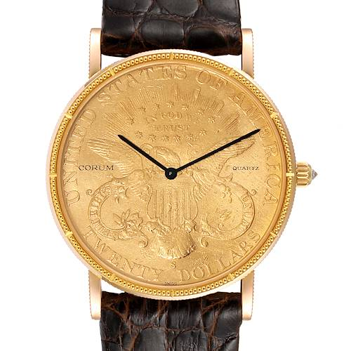 Photo of Corum 20 Dollars Double Eagle Yellow Gold Coin Year 1907 Mens Watch