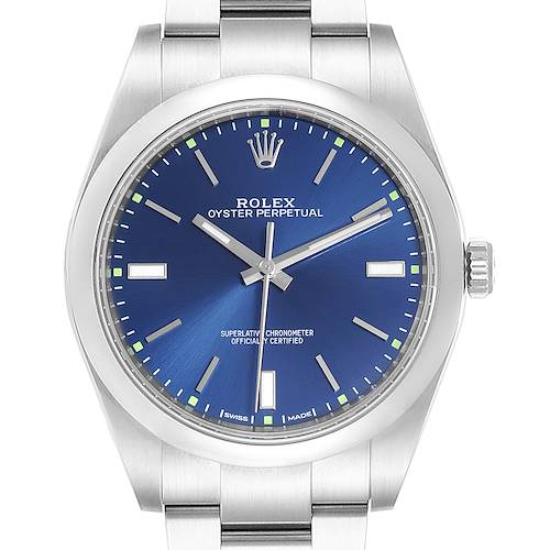 Photo of Rolex Oyster Perpetual 39mm Automatic Steel Mens Watch 114300 Box Card