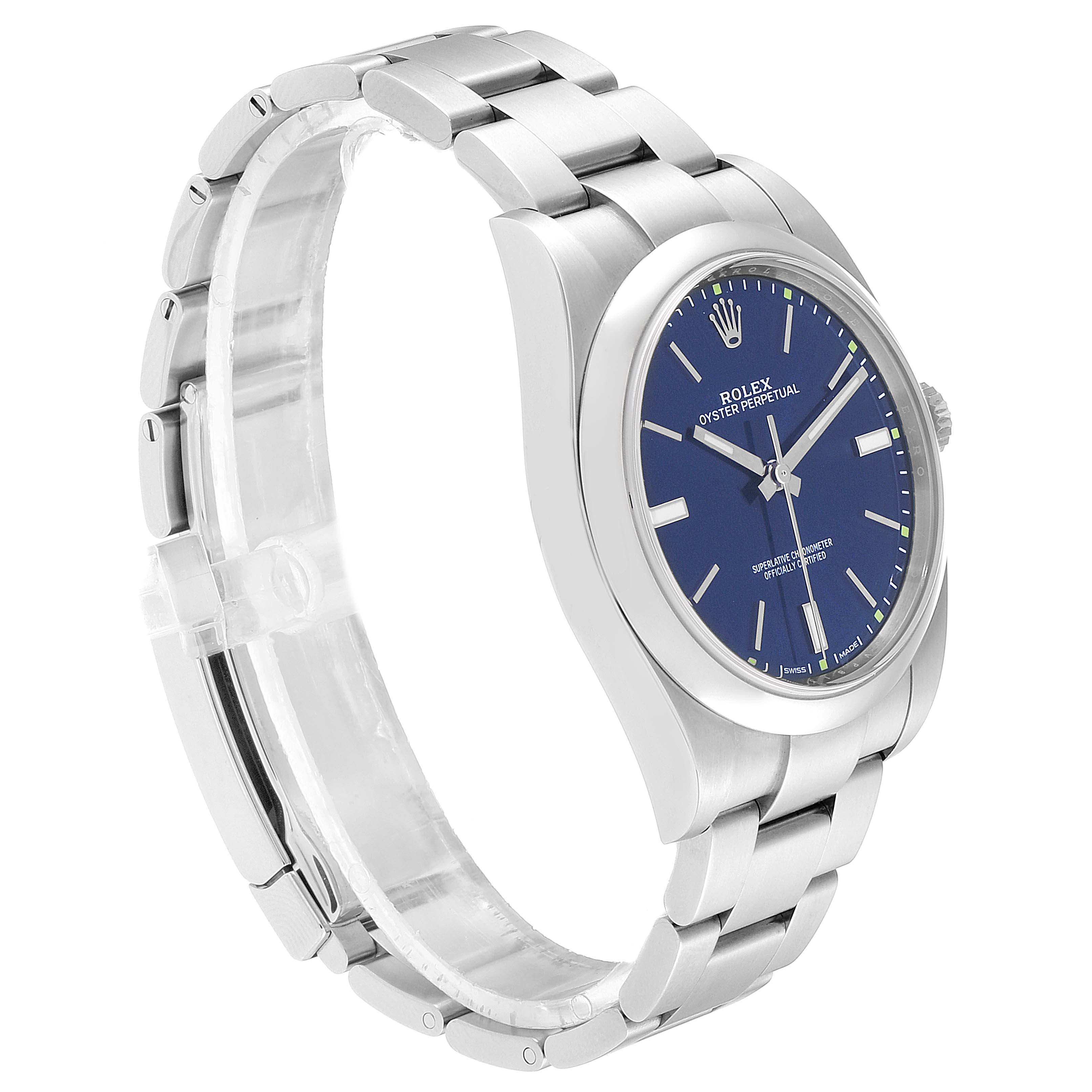 Rolex Oyster Perpetual 39mm Automatic Steel Mens Watch 114300 Box Card SwissWatchExpo