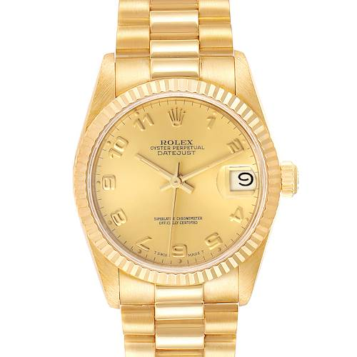 Photo of NOT FOR SALE - Rolex President Datejust 31mm Midsize Yellow Gold Ladies Watch 68278 - PARTIAL PAYMENT
