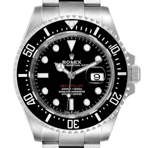 Photo of Rolex Seadweller 43mm 50th Anniversary Steel Mens Watch 126600 Box Card